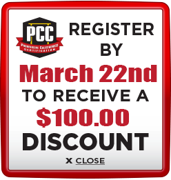 Receive $100 discount when you register by March 22nd