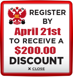 Receive $200 discount when you register by April 21st