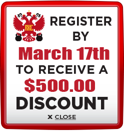 Receive $500 discount when you register by March 17th