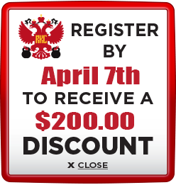 Receive $200 discount when you register by April 7th
