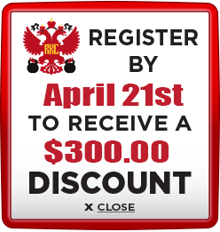 Receive $300 discount when you register by April 21st