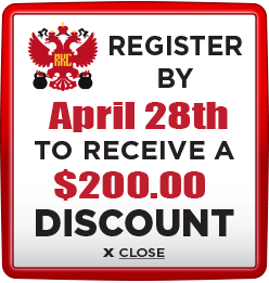 Receive $200 discount when you register by April 28th