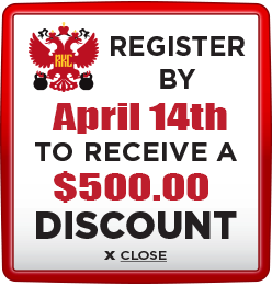Receive $500 discount when you register by April 14th