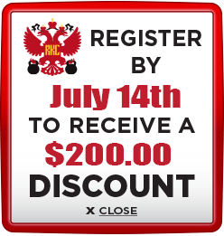 Receive $200 discount when you register by July 14th