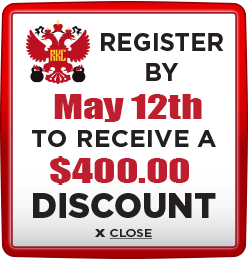 Receive $400 discount when you register by May 12th