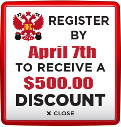 Receive $500 discount when you register by April 7th