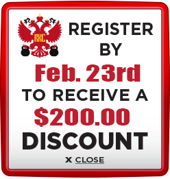 Receive $200 discount when you register by February 23rd
