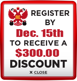 Receive $300 discount when you register by December 15th