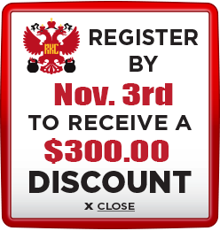 Receive $300 discount when you register by November 3rd