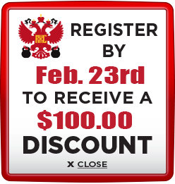 Receive $100 discount when you register by February 23rd
