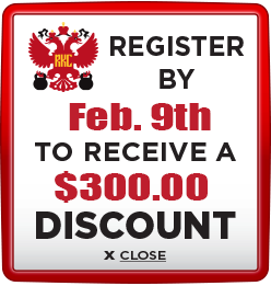 Receive $300 discount when you register by February 9th