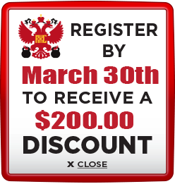 Receive $200 discount when you register by March 30th