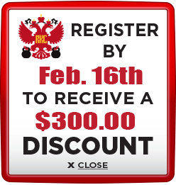Receive $300 discount when you register by February 16th
