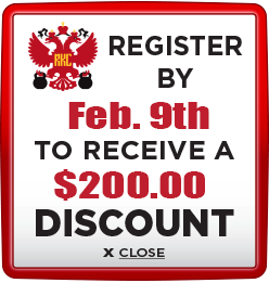 Receive $200 discount when you register by February 9th