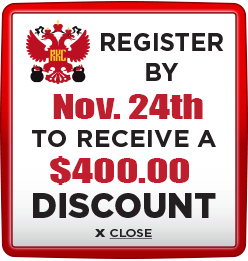 Receive $400 discount when you register by November 24th