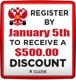Receive $500 discount when you register by January 5th