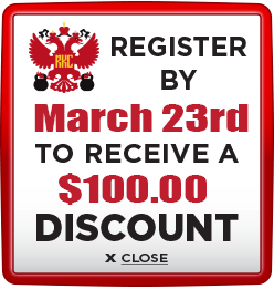 Receive $100 discount when you register by March 23rd