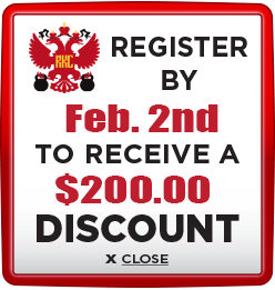 Receive $200 discount when you register by February 2nd