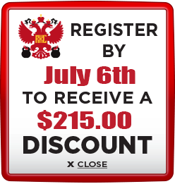 Receive $215 discount when you register by July 6th