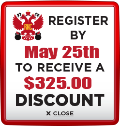 Receive $325 discount when you register by May 25th