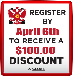 Receive $100 discount when you register by April 6th