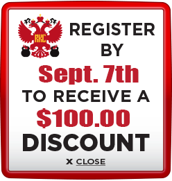Receive $100 discount when you register by September 7th