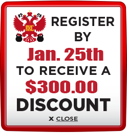 Receive $300 discount when you register by January 25th