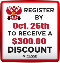 Receive $300 discount when you register by October 26th