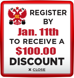 Receive $100 discount when you register by January 11th