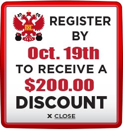 Receive $200 discount when you register by October 19th