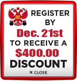 Receive $400 discount when you register by December 21st