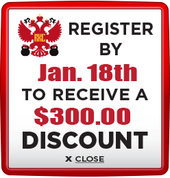 Receive $300 discount when you register by January 18th