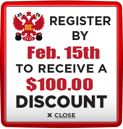 Receive $100 discount when you register by February 15th