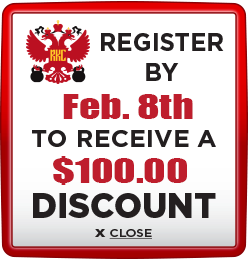 Receive $100 discount when you register by February 8th