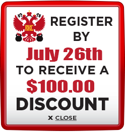 Receive $100 discount when you register by July 26th