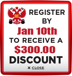 Receive $300 discount when you register by January 10th 2020