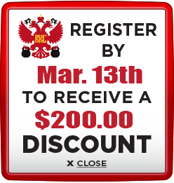 Receive $200 discount when you register by March 13th 2020