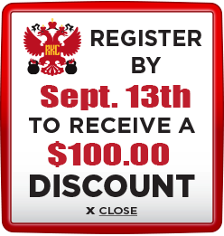 Receive $100 discount when you register by September 13th