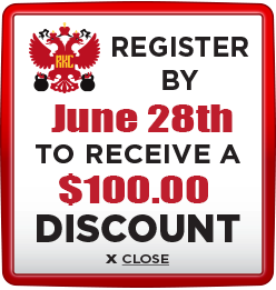 Receive $100 discount when you register by June 28th