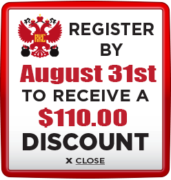 Receive $110 discount when you register by August 31st 2020