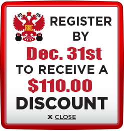 Receive $110 discount when you register by December 31st