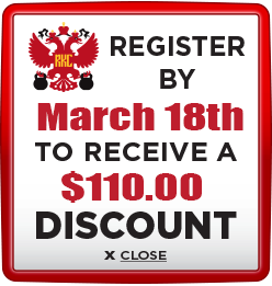 Receive $110 discount when you register by March 18th 2021