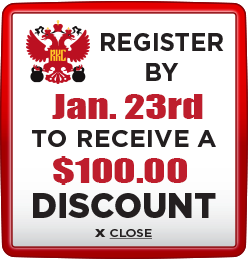 Receive $100 discount when you register by January 23rd