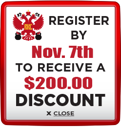 Receive $200 discount when you register by November 7th