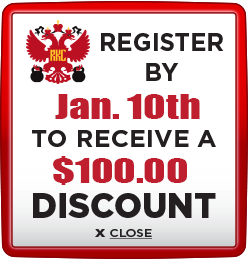 Receive $100 discount when you register by January 10th