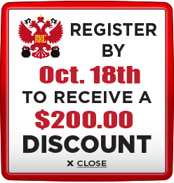 Receive $200 discount when you register by October 18th