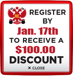Receive $100 discount when you register by January 17th