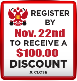 Receive $100 discount when you register by November 22nd