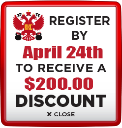 Receive $200 discount when you register by April 24th 2020