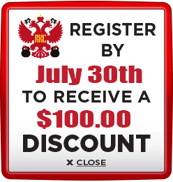 Receive $100 discount when you register by July 30th 2021